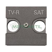 Tapa para Toma de Television TV-R/SAT 2 Modulos Zenit NIESSEN - Color Antracita