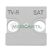 Tapa para Toma de Television TV-R/SAT 2 Modulos Zenit NIESSEN - Color Plata