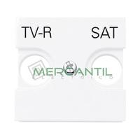 Tapa para Toma de Television TV/R 2 Modulos Zenit NIESSEN - Color Blanco
