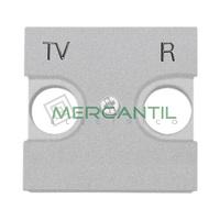 Tapa para Toma de Television TV/R 2 Modulos Zenit NIESSEN - Color Plata