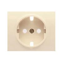 Tapa para base de enchufe schuko 2P+T con seguridad Iris BJC - color beige