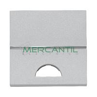 Tecla Mecanismos Preparada para Simbolo 2 Modulos Zenit NIESSEN - Color Plata