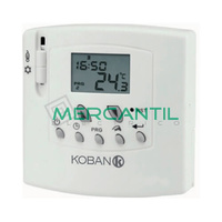 Termostato Digital con Pantalla LCD Diario/Semanal KT6 KOBAN