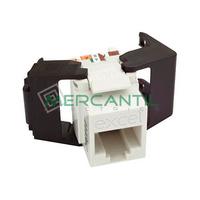 Toma Hembra RJ45 Categoria 6 UTP Keystone Blanco EXCEL - Sin Herramienta