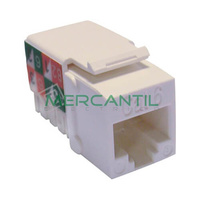 Toma Hembra RJ45 Categoria 6 UTP Keystone EXCEL - Color Blanco
