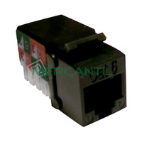 Toma Hembra RJ45 Categoria 6 UTP Keystone EXCEL - Color Negro