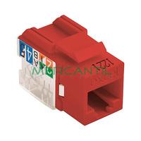 Toma Hembra RJ45 Categoria 6 UTP Keystone EXCEL - Color Rojo