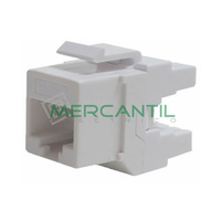 Toma Hembra RJ45 Categoria 6 UTP OPTRONICS - Color Blanco