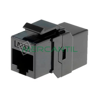 Toma Hembra RJ45 Categoria 6 UTP OPTRONICS - Color Negro
