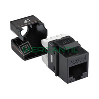 Toma Hembra RJ45 Categoria 6A UTP Keystone EXCEL - Color Negro