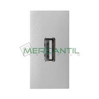 Toma USB 2.0 Tipo A Hembra-Hembra 1 Modulo Zenit NIESSEN - Color Plata