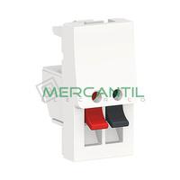 Toma de Altavoz 1 Modulo New Unica SCHNEIDER ELECTRIC