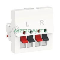 Toma de Altavoz 2 Modulos New Unica SCHNEIDER ELECTRIC