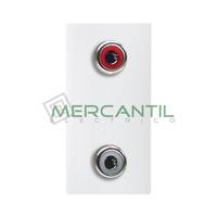 Toma de Audio 2RCA 1 Modulo Zenit NIESSEN - Color Blanco