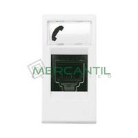 Toma de Telefono RJ12 6 Contactos 1 Modulo Zenit NIESSEN - Color Blanco