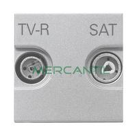 Toma de Television Final TV-R/SAT 2 Modulos Zenit NIESSEN - Color Plata