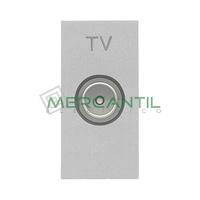 Toma de Television Final TV Tipo M 1 Modulo Zenit NIESSEN - Color Plata