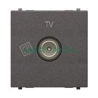 Toma de Television Final TV Tipo M 2 Modulos Zenit NIESSEN - Color Antracita