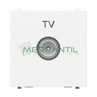 Toma de Television Final TV Tipo M 2 Modulos Zenit NIESSEN - Color Blanco