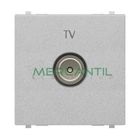 Toma de Television Final TV Tipo M 2 Modulos Zenit NIESSEN - Color Plata