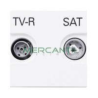 Toma de Television Unica TV-R/SAT 2 Modulos Zenit NIESSEN - Color Blanco