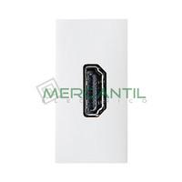Toma de Video HDMI Hembra-Hembra 1 Modulo Zenit NIESSEN - Color Blanco
