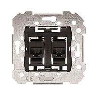 Toma doble conector hembra RJ45 categoria 6 8 vias Mec 18 BJC