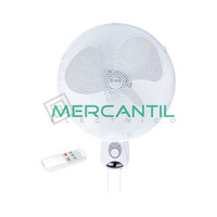 Ventilador de Pared con Mando a Distancia 45W 3 Velocidades GSC