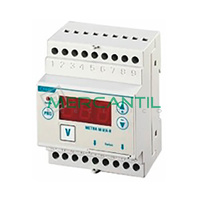 Voltimetro/Amperimetro DIN con Rele 600V METRA M-V/A-R ORBIS